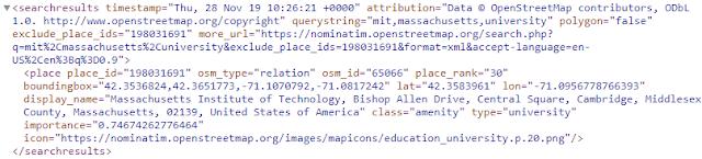 Geocoding XML output