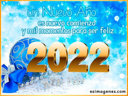 mensaje bonito para 2022