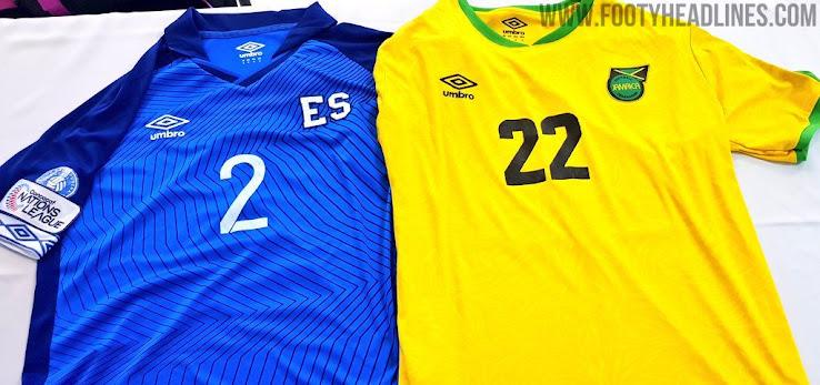 5354de363 Umbro El Salvador 2019 Gold Cup Home   Away Kits Released - Footy ...