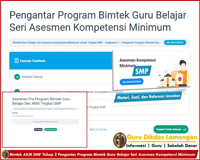 Bimtek AKM SMP Tahap 2 Pengantar Program Bimtek Guru Belajar Seri Asesmen Kompetensi Minimum