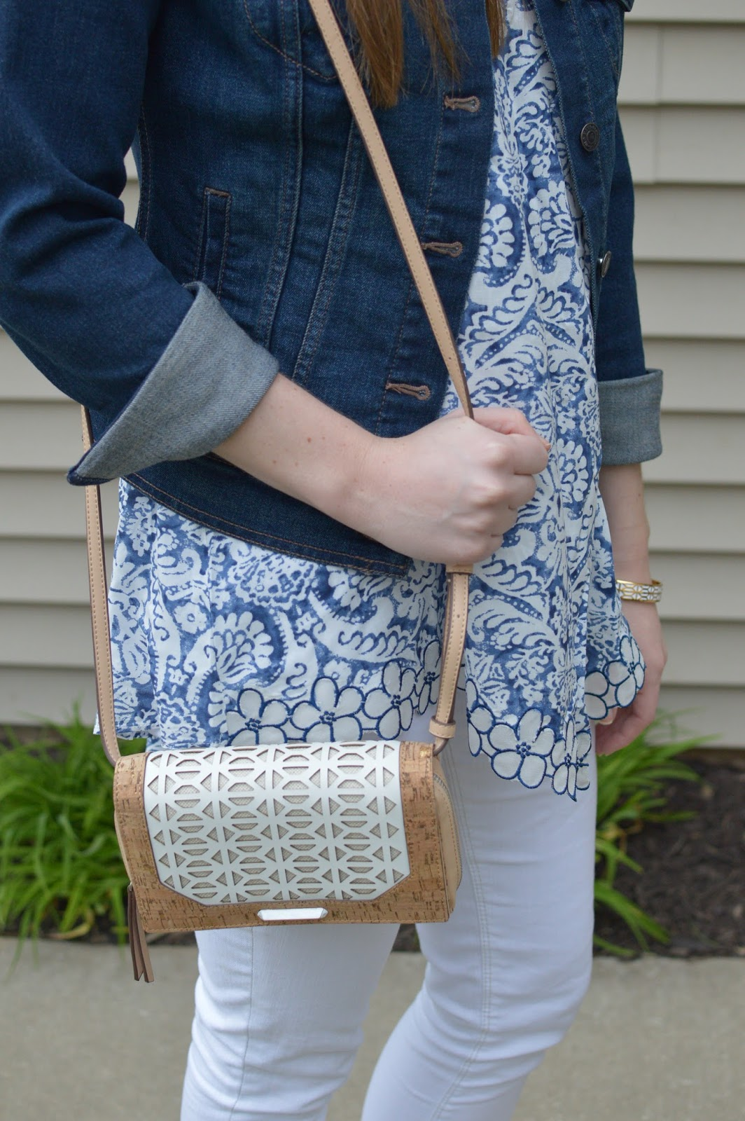 shop pink blush review | cork printed purse for spring | a memory of us