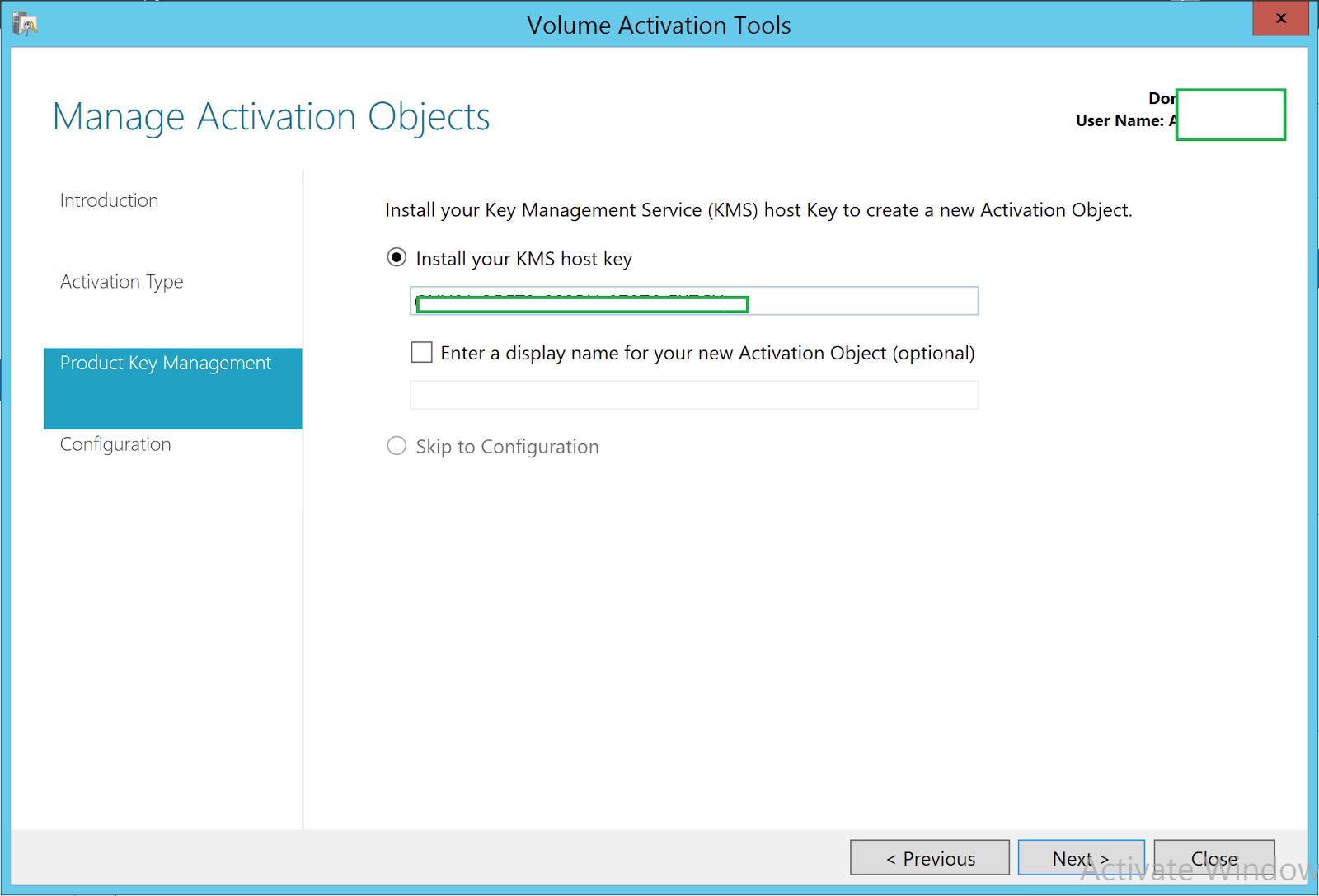 windows server mak activation