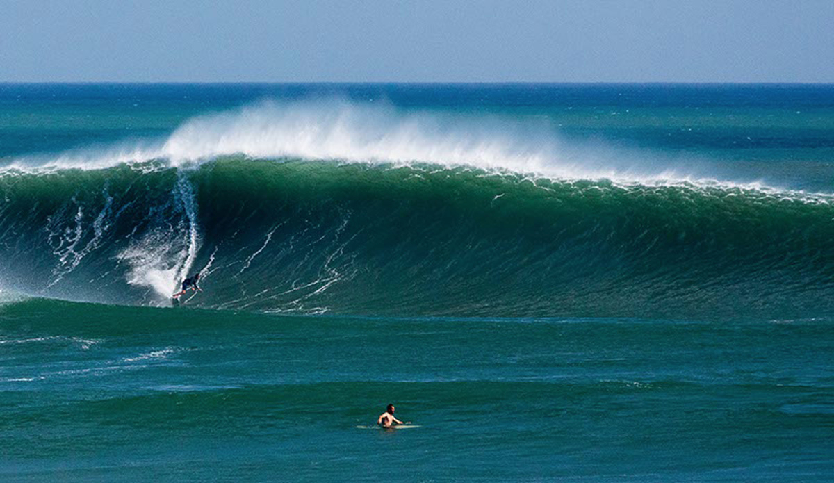 Surfing Outer Reef Nicaragua