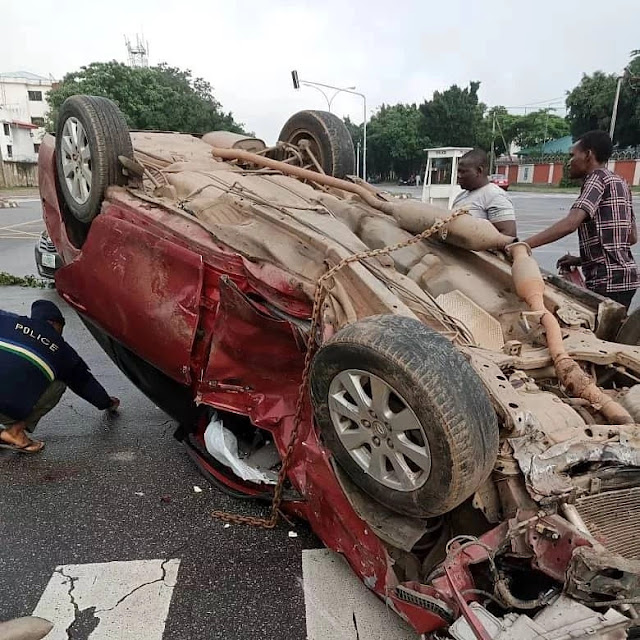 Nigerian Rapper, Mr Raw survives ghastly motor accident (photos/video)