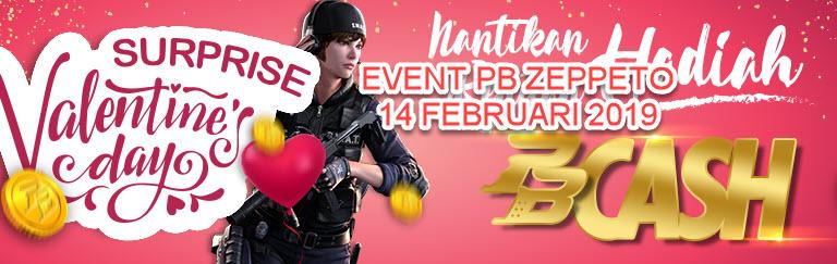 Event PB Zeppeto Valentine 14 Februari 2019 Hadiah Cash Gratis