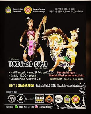 27 Februari 2020 - Pkl 15.00 - Live Jathilan turonggo Bekso - Pasar Argowijil Gari Gunung Kidul
