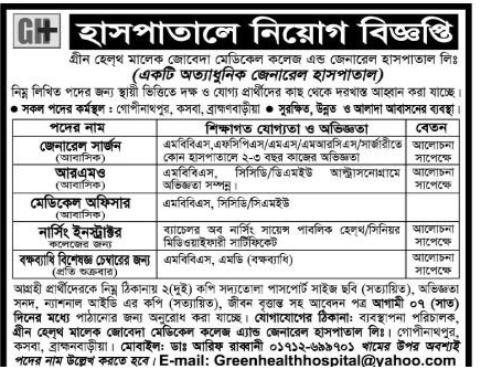 Bdjobs Online Worlds Largest Free Job Site Ngo Hospital