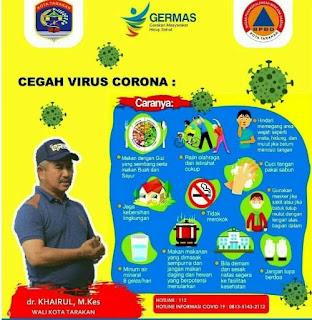 Cara Cegah Virus Corona - Germas - Tarakan Info