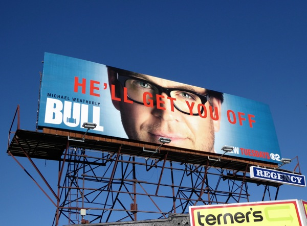 Bull He'll get you off TV billboard