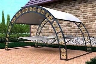 cama de hierro para el jardin
