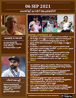Daily Malayalam Current Affairs 06 Sep 2021