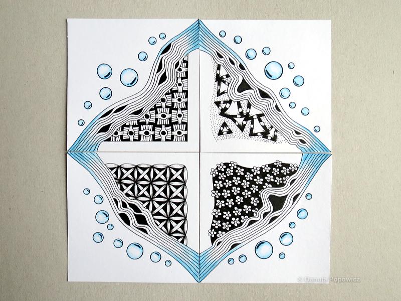 mozaika Zentangle