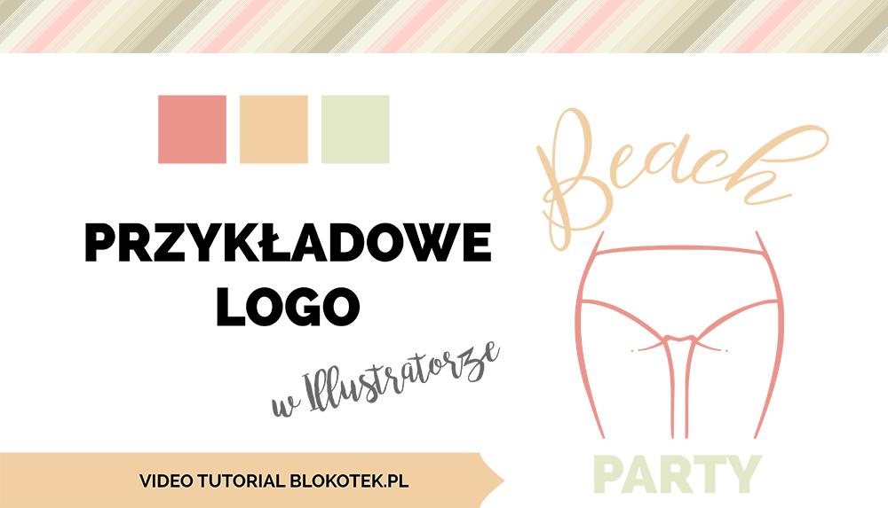 przyk�adowe logo w illustratorze beach party blokotek