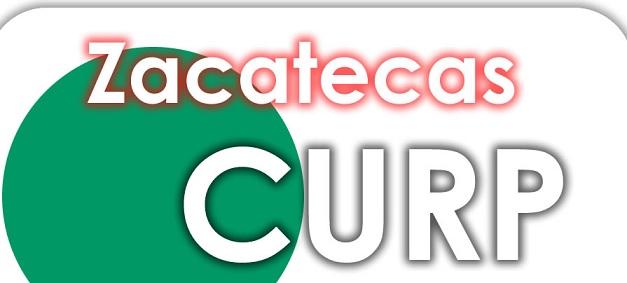 Zacatecas CURP gratis con fondo color verde