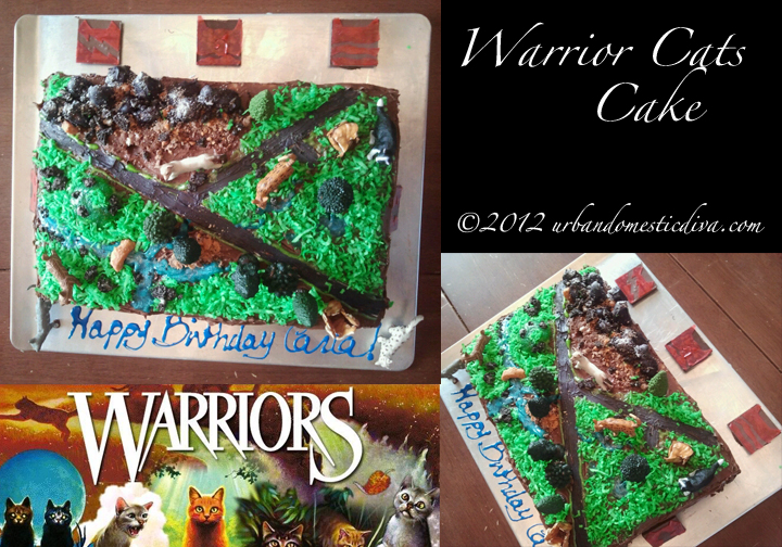 COOKING CRAFTS Warriors Cat Territories Birthday Cake