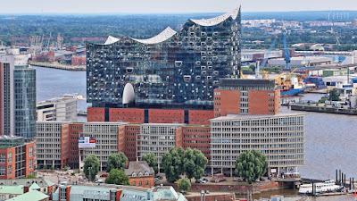 Elbphilharmonie Hamburg von oben, Bilder kostenlos und lizenzfrei
