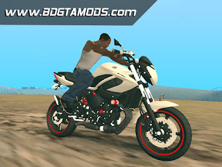 GTA SA - Yamaha XJ6 White Red 001