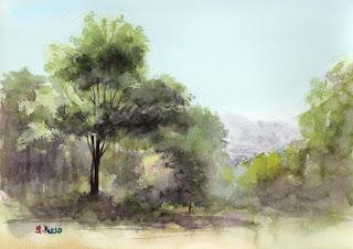 スケッチ 赤城自然園