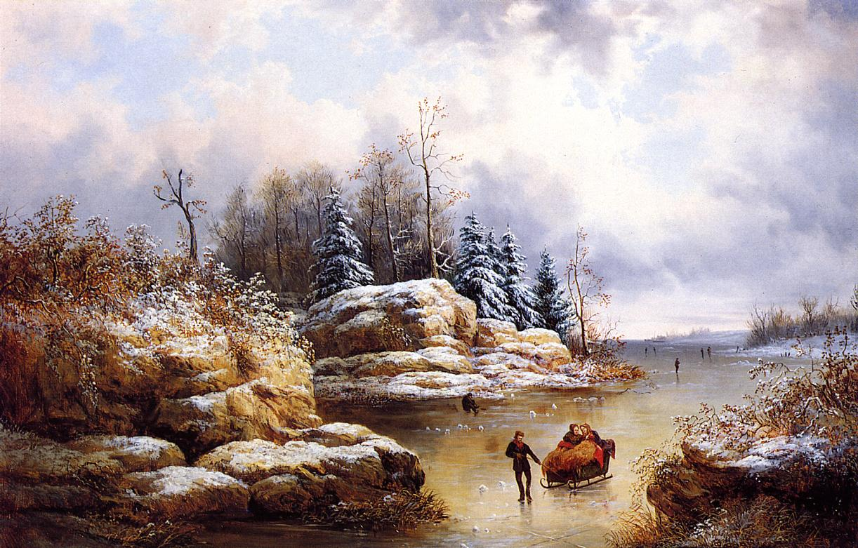 19th century american paintings paintings of winter. Black Bedroom Furniture Sets. Home Design Ideas