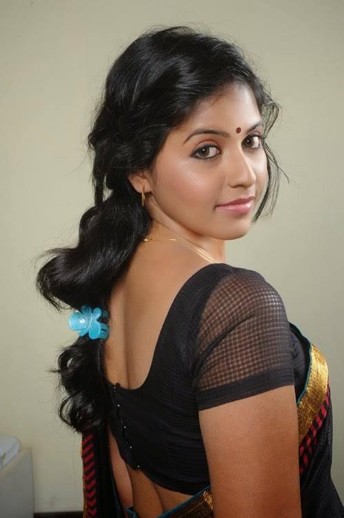 Hot Indian Actress In Sexy Black Transparent Wet Saree -4937