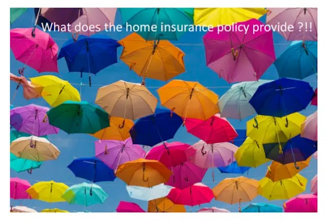What does the home insurance policy provide?