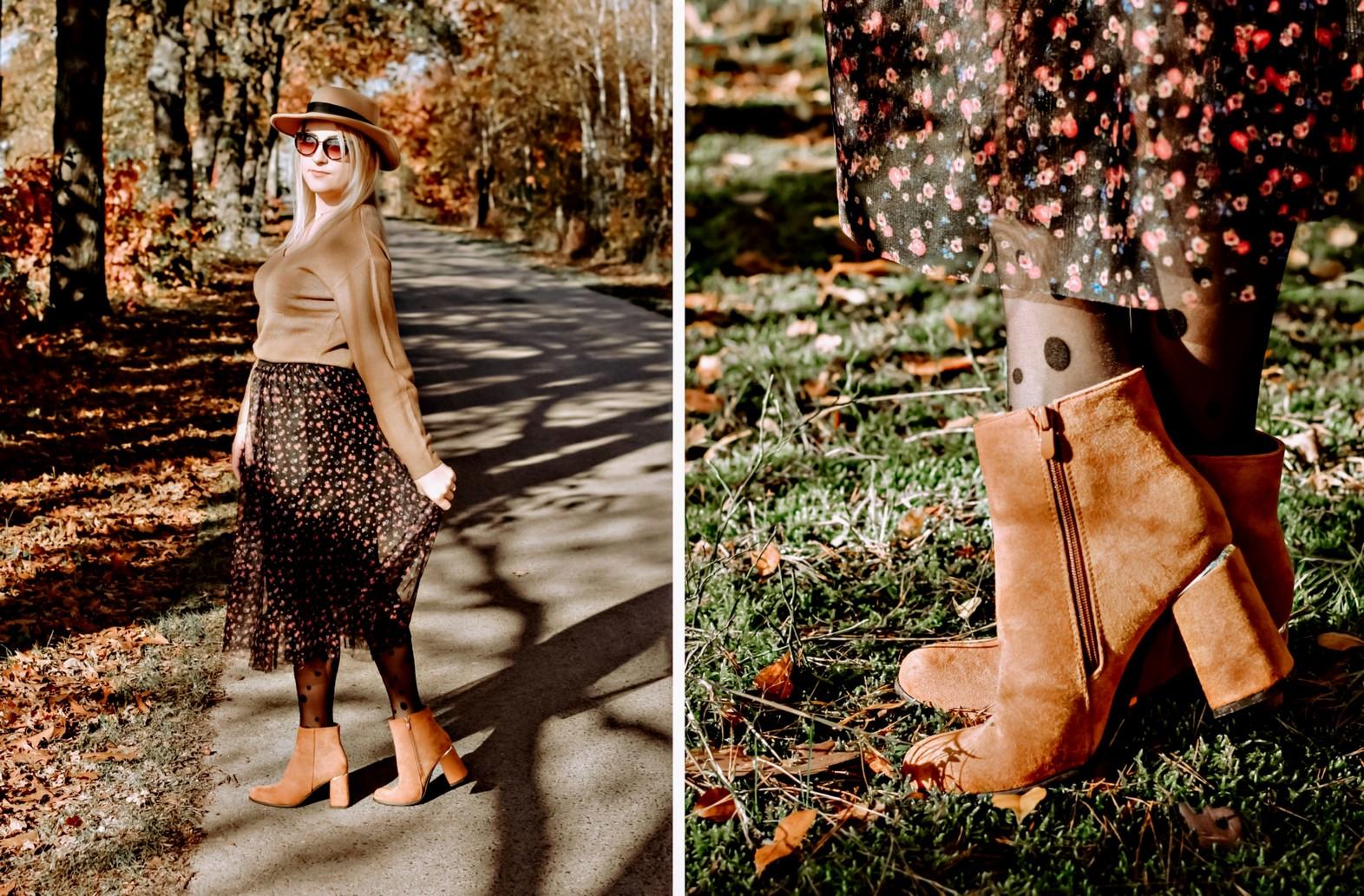 Camelowe botki na jesień