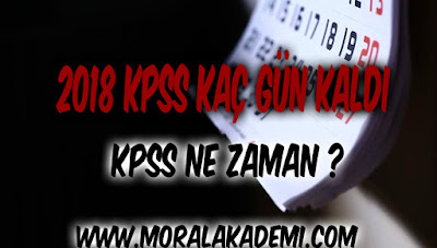 2018 KPSS Kaç Gün Kaldı – KPSS Ne Zaman?