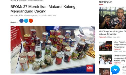 Ikan makarel kaleng kini sedang dipermalukan. Gambar dari Internet