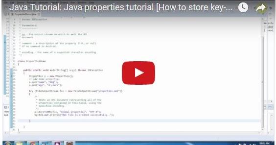 Java ee java tutorial java properties tutorial how to for Pool design pattern java