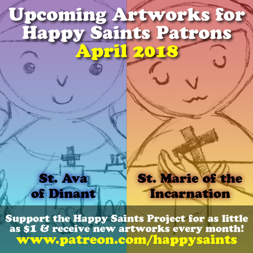 Happy saints april 2018 this months patreon artworks fandeluxe Gallery