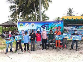 Pjs Bupati Lingga Tutup Festival Fishing di Pulau Serak Marok Tua