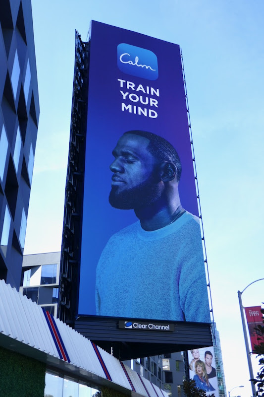 Train your mind Calm app billboard