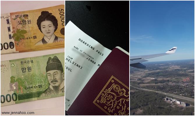 Korea matkakulut