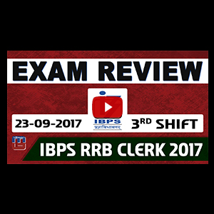 Exam Review With Cut Off | IBPS RRB CLERK 2017 | 23 September-3rd Shift