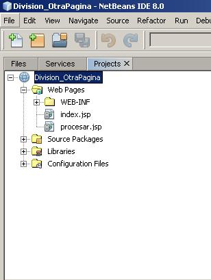 WebApplication - División en otra página