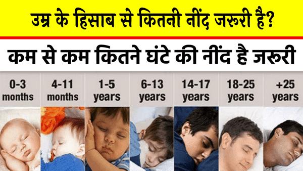 उम्र के हिसाब से कितनी नींद जरूरी है - जाने यहाँ