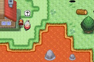 Pokemon Terra Firma para GBA Pueblo con Lava debido a la Erupcion del Volcan