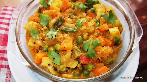 Vegetable kurma, Mixed veg kurma