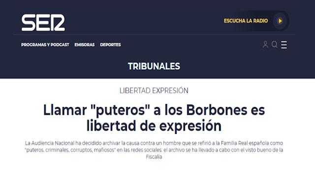 Amparándose en la 'Libertad de Expresión' la Audiencia Nacional archiva una causa por injurias contra la Corona