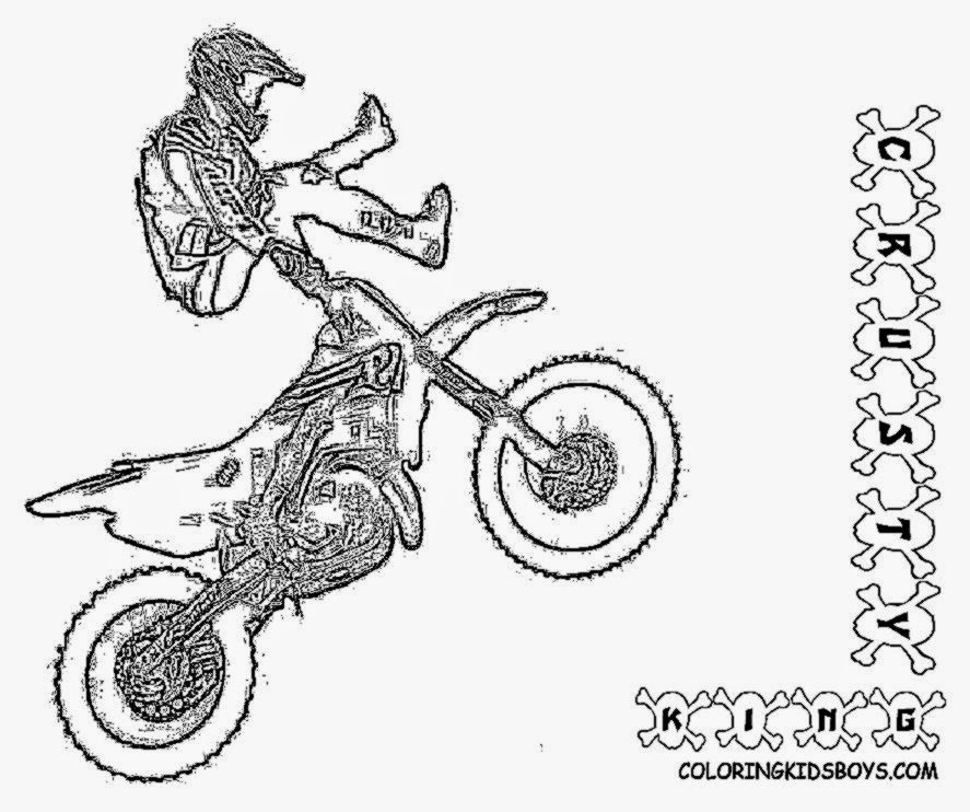 honda dirt bike page Colouring Pages