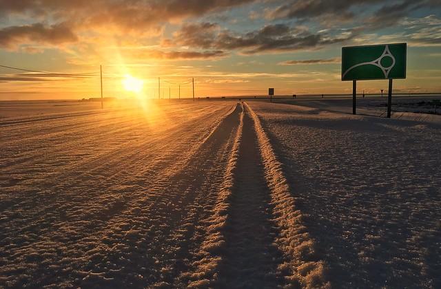 Tierra del Fuego winter sunset, Argentina