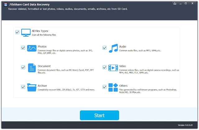 Screenshot 7thShare Card Data Recovery 6.6.6.8 Full Version