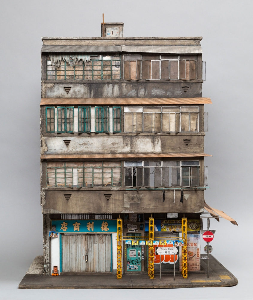 01-Temple-Street-Kowloon-Hong-Kong-Joshua-Smith-Miniature-Sculptures-and-Stencils-to-Create-Architecture-www-designstack-co