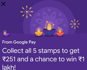 How to get rangoli google pay stamp