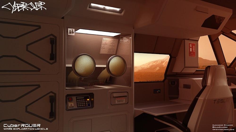 SpaceX Mars exploration rover by Alexander Svanidze - lab