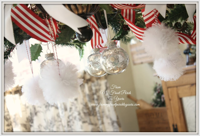 Christmas Chandelier-French Farmhouse- French Country- Kitchen- From My Front Porch To YOurs