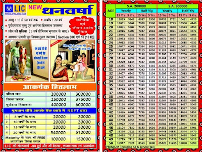 LIC New Dhan Varsha Money Back Policy Plan Details