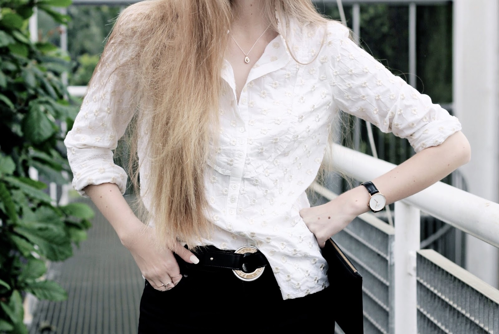 Classic White Shirt With a Twist