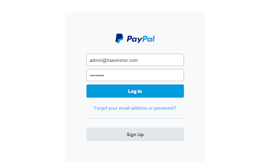 Hasil Website Scampage Paypal
