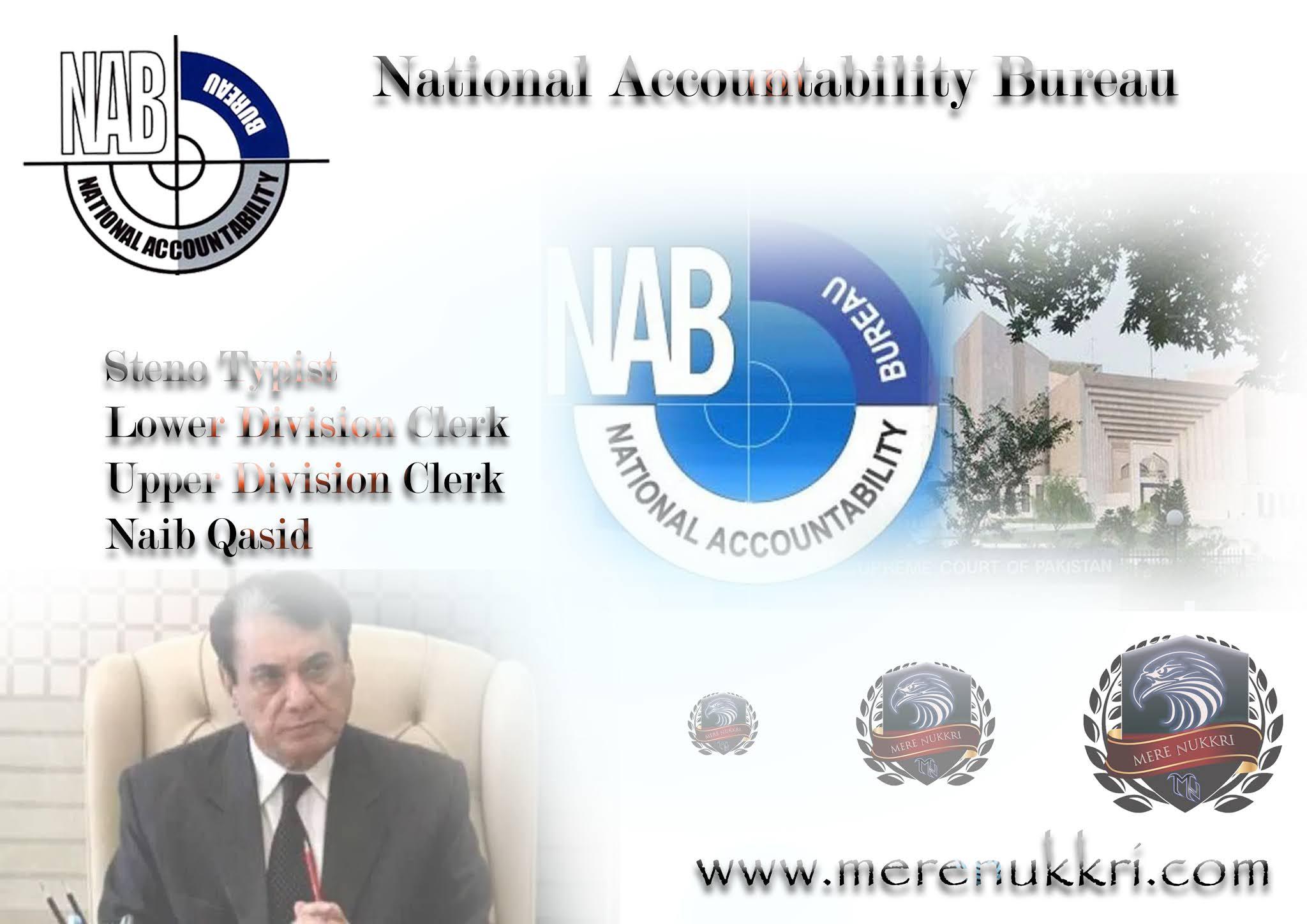 National Accountability Bureau NAB Jobs 2021   Clerk & other   Download Application Form